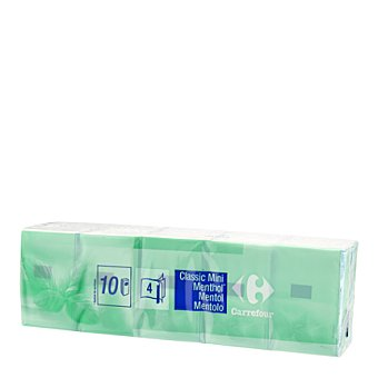Carrefour Mini pañuelos mentolados 10 ud
