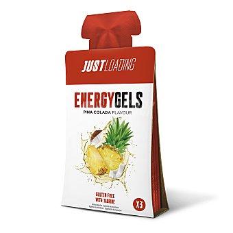 Just Loading Gel energético sabor piña colada pouch 3 x 30 gr