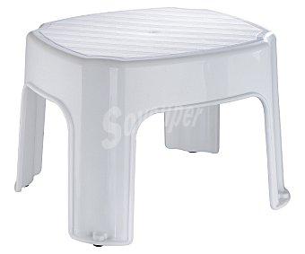 TOYMA Banqueta multiusos baja de plástico blanco 1 unidad