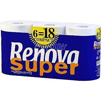 Renova Papel higiénico súper compacto Paquete 6 rollos