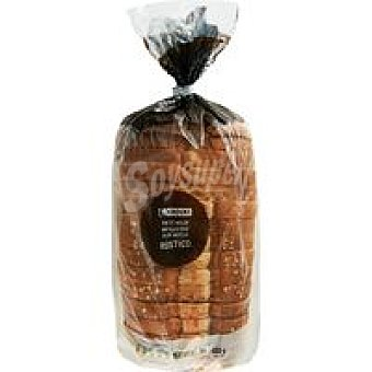 Eroski Pan de molde rústico Paquete 450 g