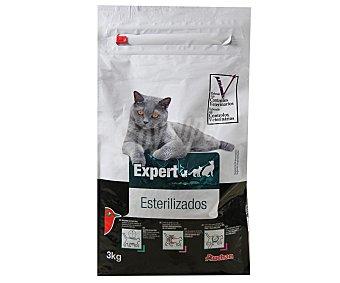 AUCHAN EXPERT Comida completa para gatos esterilizados rica en pollo 3 kilogramos