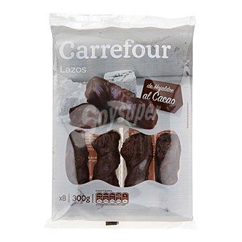 Carrefour Lazos de hojaldre al cacao 300 g