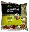 Verduras jardinera mix de 5 verduras fresco calabacin,pimiento rojo y verde,cebolla y puerro (para microondas) Bolsa 400 g Verdifresh
