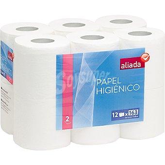 Aliada Papel higiénico blanco 2 capas Paquete 12 rollos