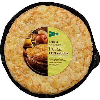 El Corte Inglés tortilla de patata fresca con cebolla  envase 600 g
