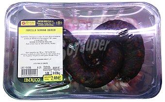 Embutidos Moreno Plaza Morcilla serrana iberica Bandeja 375 g peso aprox. (3 unidades)