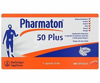 PHARMATON 50 Plus Complemento alimenticio enriquecido con vitaminas, minerales y ácidos grasos Omega3 60 C