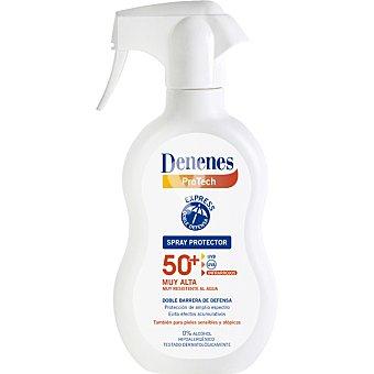 spray protector solar FP-50+ con doble barrera de defensa muy resistente al agua también para pieles sensibles y atópicas