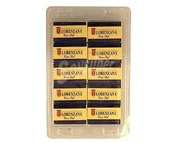 Lorenzana Pastillas de mantequilla con sal LA 10 x 12.5 g