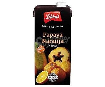 Libby's Néctar de naranja y papaya Brick de 1 litro