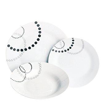 Vajilla 18 piezas porcelana decorada Mod. GEOM 18 piezas