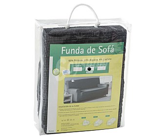 Productos Económicos Alcampo Funda elástica para sofá de 2 plazas, color gris 1 Unidad