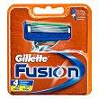 Recambio maquinilla Fusion  Blister 4 unidades Gillette Fusion