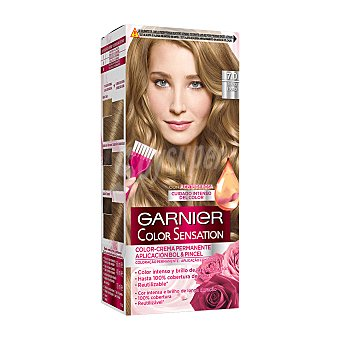 Color Sensation Garnier Tinte rubio nº 7.0 coloración permanente intensa  Caja 1 ud