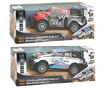 RC Dakar Pickup Todoterreno radiocontrol Dakar Pickup a escala 1:20 con luces, 26cm., RC