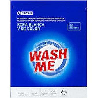 Eroski Detergente ropa blanca en polvo Maleta 40 cacitos