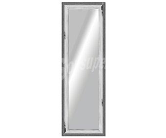 ARTEMA Espejo plano rectangular, marco de madera con acabados en color gris, con efectos de degradado, 30x120 centímetros 1 unidad