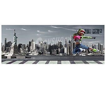 IMAGINE Cuadro de una bailarina con la ciudad de New York de fondo y dimensiones de 30x80 centímetros 1 unidad