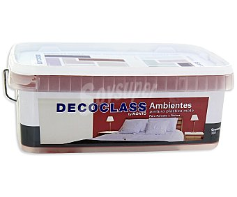 DECOCLASS Pintura Acrílica Decorativa Color Granate, Ambientes 2,5 Litros