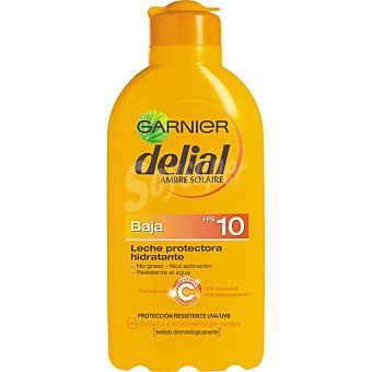 Delial Garnier Leche protectora ultra-hidratante FP-10 resistente al agua Frasco 200 ml