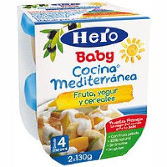 Hero Cocina mediterránea de frutas-yogur-cereal Tarrina 130 g