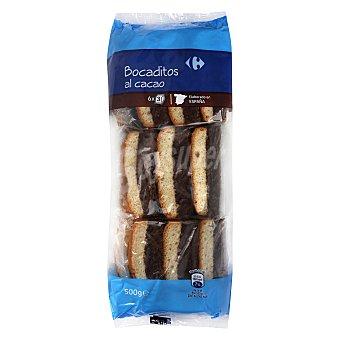 Carrefour Bocaditos al cacao 500 g