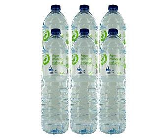 Productos Económicos Alcampo Agua mineral Pack 6 botellas x 1,5 l