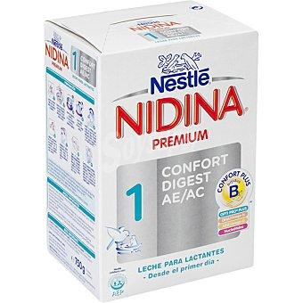 Nidina Nestlé Leche en polvo para lactantes desde el primer día Premium 1 Confort Digest Envase 750 g