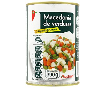 Auchan Macedonia de Verduras 240 Gramos Peso Escurrido