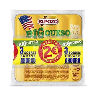 ElPozo Big Queso salchichas con queso  3 envases de 180 g