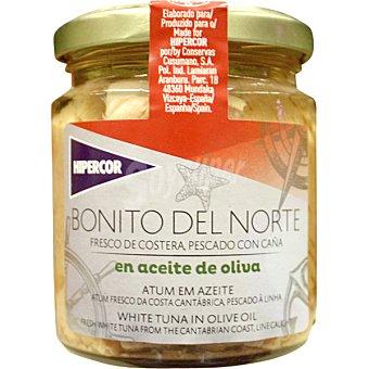 Hipercor Bonito del norte en aceite de oliva frasco 160 g neto escurrido Frasco 160 g neto escurrido