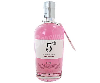 5 th FIRE Red Fruits Ginebra premium inglesa tipo London dry gin Botella de 70 centilitros