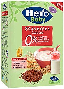 Hero Baby papilla 8 cereales con cacao Caja 500 g