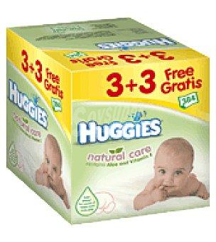 Huggies Natural Care Toallitas 3+3 Pack de 6x64 ud