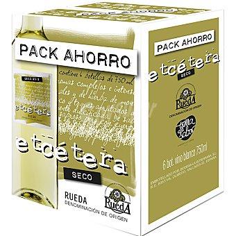 Etcétera Vino blanco D.O. Rueda caja 6 botellas 75 cl