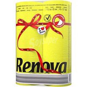 RENOVA Papel Higiénico Red Label 2c Amarillo 6unid