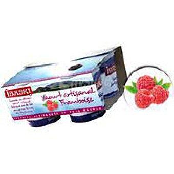 IBASKI Yogur batido de frambuesa Pack 4x125 g