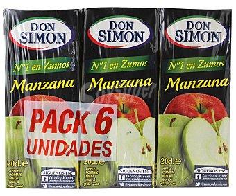 Don Simón Zumo de manzana con vitamina C Pack 6x20 cl