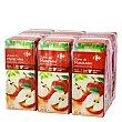 Zumo de manzana Carrefour pack de 6 briks de 20 cl 1 l Carrefour