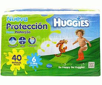 Huggies Pañales Talla 6 (17-28kg) 40U