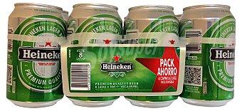 Heineken Cerveza rubia Lata pack 8 x 330 cc - 2640 cc