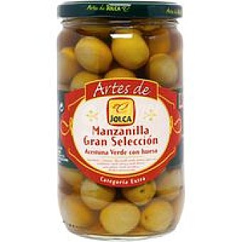 Jolca Aceitunas artesanas verdes con hueso Frasco 420 g