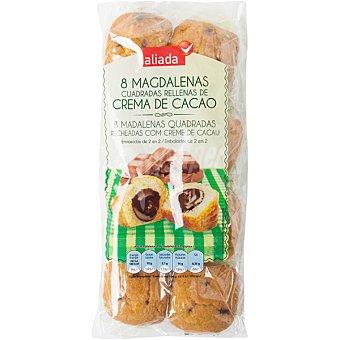 Aliada Magdalenas cuadradas rellenas de cacao envasadas de 2 en 2 8 unidades envase 336 g 8 unidades