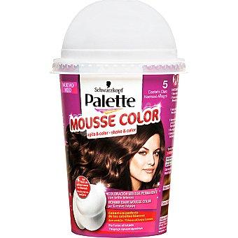 Schwarzkopf Palette tinte nº 5 Castaño Claro coloración Mousse Color permanente con brillo intenso envase 1 unidad con perfume afrutado Envase 1 unidad