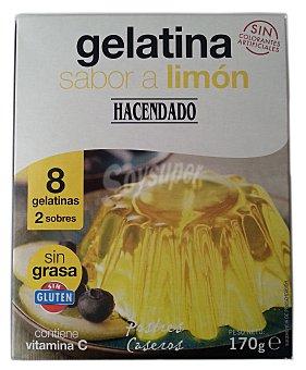 Hacendado Gelatina polvo limon (8 raciones) Caja 170 g