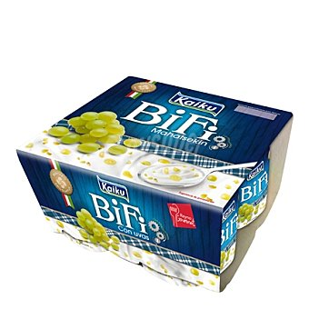 Kaiku Bífi Activium con uva Pack 4x125 g
