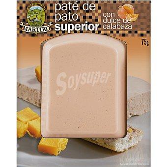 Martiko Paté de pato superior con dulce de calabaza Envase 75 g