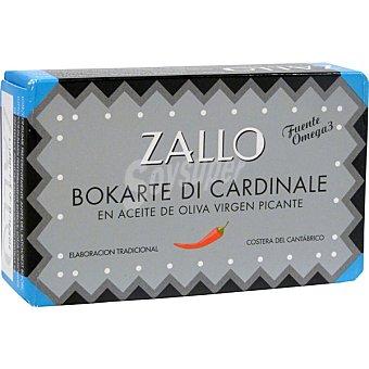 Zallo Bokarte di cardinale en aceite de oliva virgen picante Lata 80 g neto escurrido