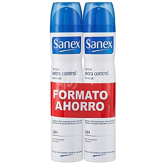 Sanex Desodorante extra control spray 2x 200ml 2x 200ml